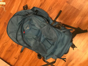 UNUSED* Osprey 70L Travel Backpack Blue
