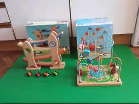 Early learning Centre wooden click clack track &ELC woodenBead frame.