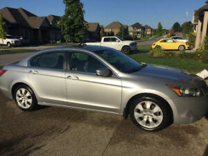 2010 Honda Accord EX with winter tires and rims