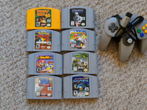 N64 GAMES, AND CONTROLLERS