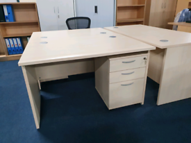Light Wood Desks ideal for home office. Huge Glasgow Showroom G40 3AS