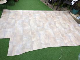 Vinyl flooring sheet lino 2.6m X 1.8m tiles effect floor covering