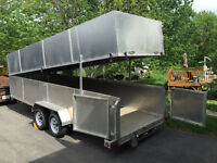 19' removable top all aluminum trailer