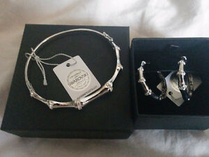 Swarovski bracket and matching earrings BRAND NEW
