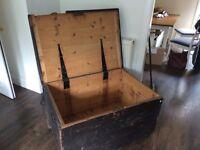 Vintage travel trunk / chest / blanket box