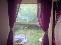 Purple Curtains with Butterfly tie backs