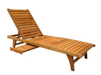 CHAISE LOUNGE WITH PULL-OUT TRAY, CEDAR, BACKYARD, PATIO, GARDEN