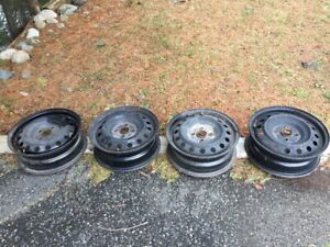 4 rims off a 2008 Toyota Yaris