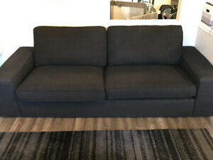2 IKEA kivik full size 3 seater sofa/ couches in Black fabric