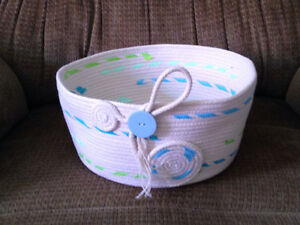 Homemade Rope Baskets and Bowls