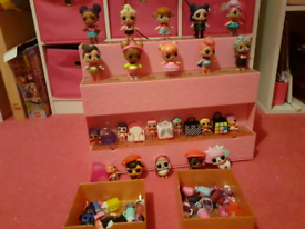 Lol dolls and stand ,& accessories