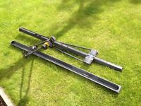 Two basic bike carriers for roof mounting