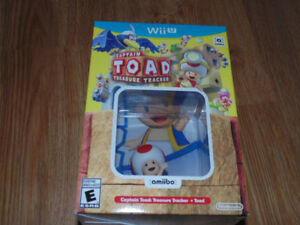 Brand New Captain Toad: Treasure Tracker with Toad Amiibo