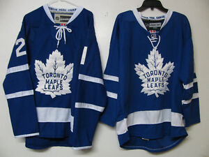 Toronto Maple Leafs Marner L and Vanriemsdyk M hockey jerseys