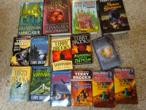 Shannara Books by Terry Brooks, 4 hardcover & 10 paperback