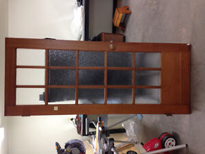 15 panel sold wood door