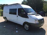 2007 Ford Transit 2.4 T350 LWB 10 Seat Crew Cab/Minibus 115 BHP, ROOF RACK, NO VAT