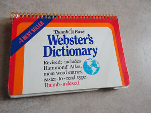 Webster's Thumb Ease Pocket Sized Dictionary