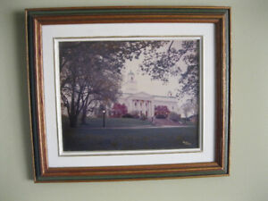 Framed Photo of UHall, Acadia University