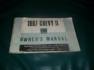 1967 chevy 2 owners manual