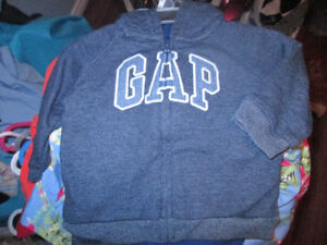 heathered blue Baby GAP outfit 3/6 months 3 pieces