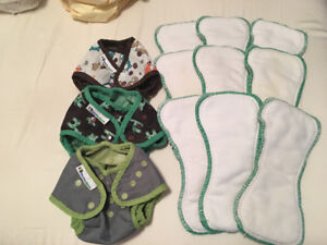 Best Bottoms Cloth Diaper Covers w stay dry inserts