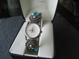 Genuine Turquoise stones and Sterling Silver Watch Peterborough Peterborough Area image 1
