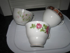 """BEAUTIFUL OLD VINTAGE BONE CHINA """"REPLACEMENT"""" CUPS {ONLY}"""