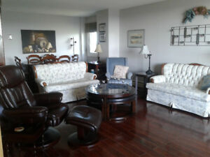 Two bedroom furnished condo available for six months.