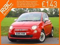 2015 Fiat 500 1.2 Colour Therapy 5 Speed Bluetooth Air Conditioning Demo Plus 1