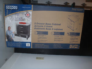 Cosco  Three Drawer Base Cabinet