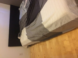 IKEA queen malm bed frame and mattress
