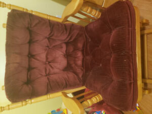 Glider Rocking Chair and Gliding Foot Stool
