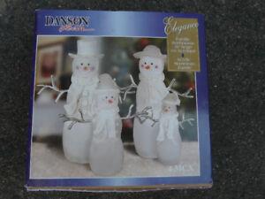 Set of 3 Glass snowman, 3 sizes