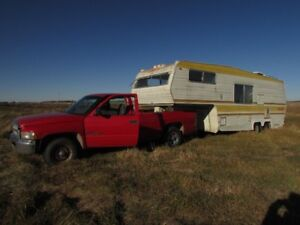 RAM TRUCK WITH 5TH WHEEL-TINY HOME PROJECT