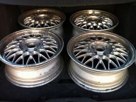 "Forged RARE OE Mazda BBS 4x100 15"" wheels - set of 4"
