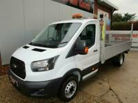 £ 97 A WEEK - 2017 FORD TRANSIT SINGLE CAB DROPSIDE TRUCK. 4.2M BED / T LIFT