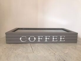 *New* Grey Wooden Coffee Pod Storage Box