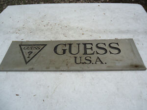 Vintage Guess Jeans USA Metal Signs from jean store Peterborough Peterborough Area image 2