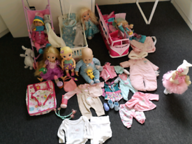Baby Annabell Baby Born Dolls set Clothes Barbies Bus Pushchair Cot