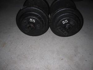 York SteeL Dumbells 2x55s gym weights exercise