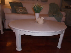Shabby Chic Coffee Table with Matching Side Tables.