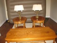 OAK COFFEE AND ENDTABLES