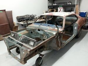 1972 Plymouth  Duster body and assorted parts.