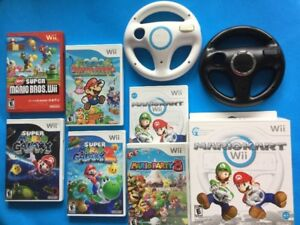 Mario Galaxy, Party 8,New Mario Bros Wii, Mario Kart...