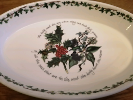 Portmerion Christmas Holly & Ivy Oval Serving Dish
