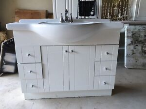 Bathroom vanity Complete with counter sink and faucet