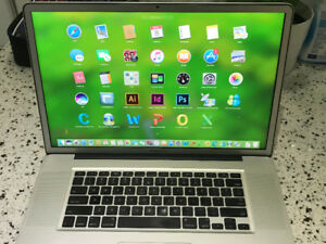 RARE Macbook Pro 2010 17 i5 2.4GHZ 8GB 750GB M.OFFICE& PHOTOSHOP