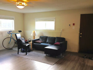 Aug 1: One bedroom apt by Okanagan Beach, utilities included!