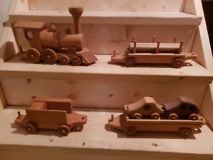 Beautifully Handcrafted Solid Train Set